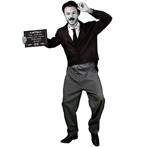 Stummfilm Kostüme (Morphsuits MCCMO20L - Stummfilm Star 1920s Männlich Kostüm, Größe)