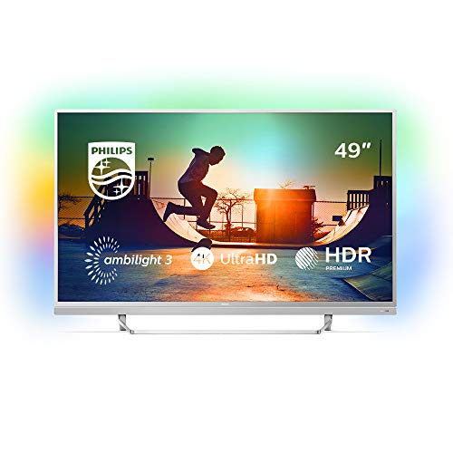 Philips Ambilight 49PUS6482/12 Fernseher 123 cm (49 Zoll) LED Smart TV (4K UHD, Pixel Plus Ultra HD, HDR Premium, DTS Premium Sound, Android TV) Serie 3 Flat Panel