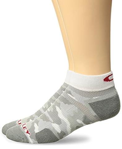 Oakley Men's Golf Low Cut Socks (2 Pack), White Print,