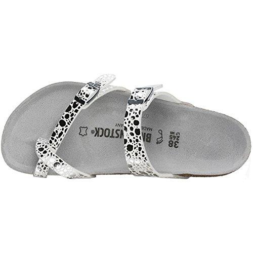 Birkenstock Womens Mayari Birko-Flor Sandals Metallic Stones Silver
