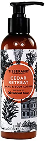 Tisserand Inspired by National Trust Hand and Body Lotion, Cedar Retreat 195 ml