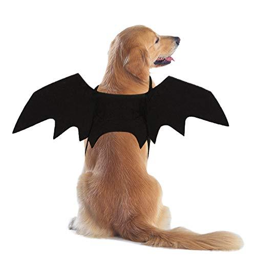 RYPET Fledermauskostüm für Hunde, Halloween, Fledermausflügel, Cosplay, Hundekostüm für Partys, M, Hundeschlägerflügel
