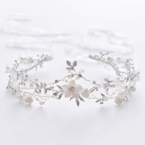 Kreative Braut Haarband Handgemachte Perle Hochzeitskleid Prinzessin Brautjungfer Mädchen...