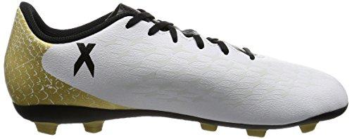 adidas Unisex-Kinder X 16.4 Fxg J Fußballschuhe Weiß (Ftwr White/Core Black/Gold Metallic)