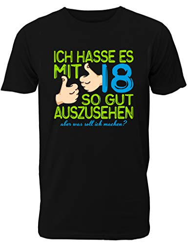 Kostüm Bester Partner Freund - Geburtstag T-Shirt Ich Hasse es mit 18 so gut auszusehen - lustiges Geschenk zum 18. Geburtstag