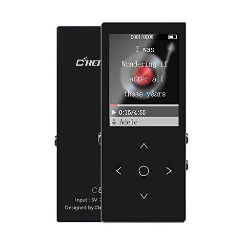 MP3 Player mit Bluetooth 16 GB mit Shuffle HiFi verlustfreie Sound Musik Player unterstützt SD-Karte