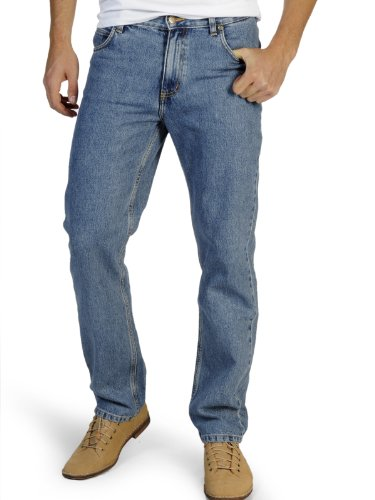 Lee Jeans Brooklyn - stonewash, Größe:W38 L34 - Lee Wrangler-jeans