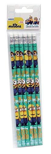 MINIONS- 0 Set de 6 lápices,, 0