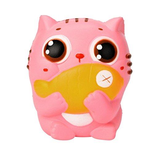 namick 10CM Cute Kitty Süße rosa Katze Creme duftenden Squishy langsam steigenden Squeeze Strap Kinder Spielzeug Geschenke (Rosa) (Nette 10 Jährige Jungen)