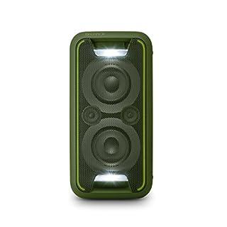 Sony GTK-XB5 One Box Party Soundsystem (200 W Ausgangsleistung, Extra Bass, Bluetooth, NFC, Licht und DJ-Effekte) Grün