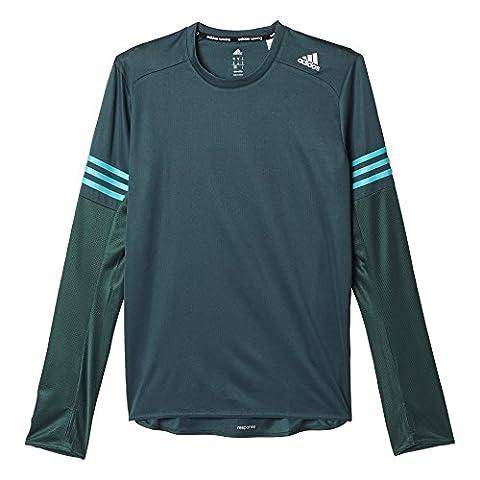 adidas Herren T-shirt RS Long Sleeve M, Grün/Blau, XL,