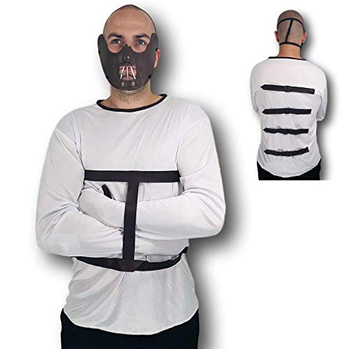 Adult Hannibal Lecter Jailbird Silence of the Lambs Fancy Dress Halloween Costume by Rubber Johnnies - Für Erwachsenen Hannibal Lecter Kostüm