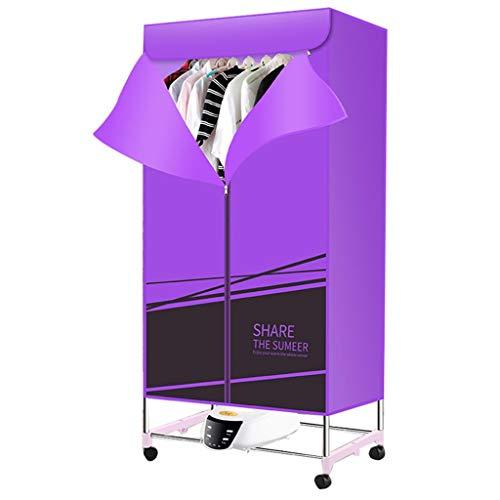 Guo@ asciugatrice portatile riscaldatore elettrico 1300w stendino pieghevole aria calda asciugabiancheria asciugatrice asciugatura rapida a casa con telecomando abiti-asciugatrici (colore : purple)