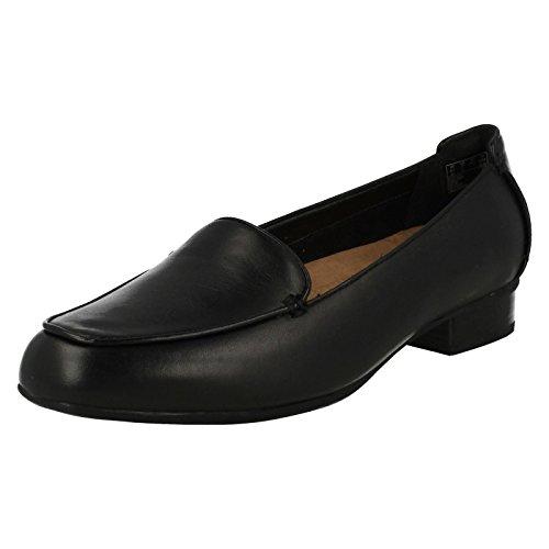 Clarks Janey Mae, Mocassins Femme cuir noir