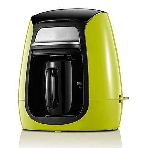 GUOJINJIN Kaffeemaschine, Konzentriert Stumm Anti-Tropf-Funktion Cappuccino Kaffeemühle Kunststoff Kaffeekanne Filter Für Home Office (Grün)