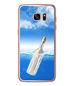 PrintVisa Designer Back Case Cover for Samsung Galaxy S7 :: Samsung Galaxy S7 Duos :: Samsung Galaxy S7 G930F G930 G930Fd (Beautiful cool shades of blue white)