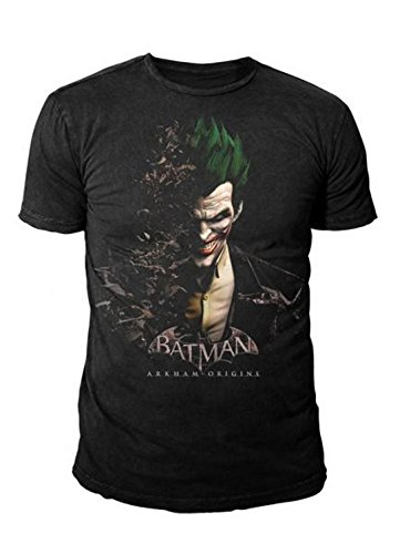 DC Comic - Batman Arkham City Retro Herren T-Shirt The Joker (S-XL) (M) (Batman Arkham City Shirt)