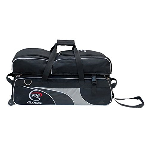 900 Global 3 Ball Airline Tote Roller Bowling Tasche mit abnehmbarem Schuhfach