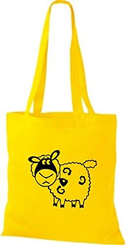 Shirtstown Stoffbeutel Tiere Schaf Schäfchen Gelb