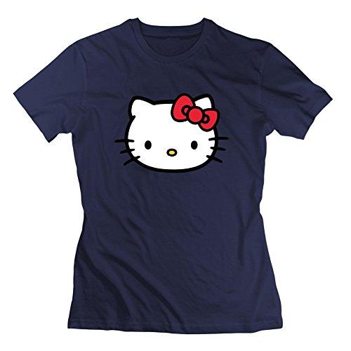 donne-hello-kitty-jpeg-immagine-grigio-creative-deepheather-a-maniche-corte-donna-navy