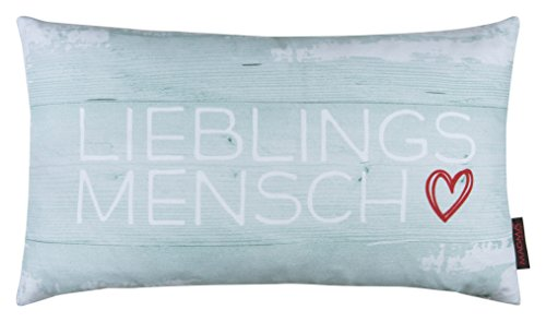 Kissen Lieblingsmensch mint 30x50cm Made in Germany