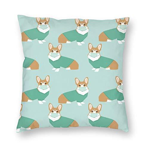 Corgi In Scrubs Operationssaal Hund Hund - Light Blue_366 Dekorative Kissenbezug Home Decor Kissenbezug Bunte 18x18inch -