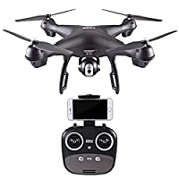 Drone Quadcopter with 1080P HD Camera, S70W 2.4GHz GPS FPV Wifi Headless Mode 120° Wide-angle Altitude Hold One Key Take Off/Landing