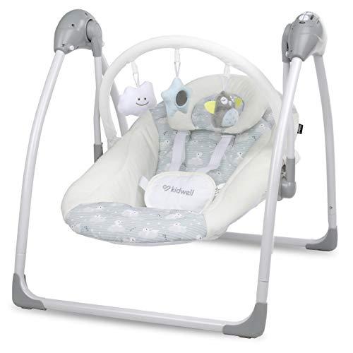 KIDWELL MILI Multifunktional Babywippe   Elektrische Babyschaukel mit Spielbogen & Melodien   ab Geburt bis 9 kg verwendbar   USB-Netzwerkkabel + Fernbedienung + Moskitonetz im Set   Kanninchen-Muster