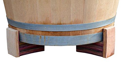 Temesso Untersetzer, Füße aus Holzdauben für Weinfass - Fasserhöhung im 3er Set (Höhe 9cm (3...