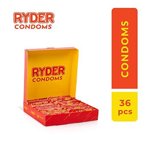 Ryder Preservativos - Paquete 36 - Condones transparentes