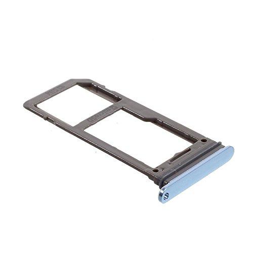 jbTec SD-Card/SIM-Tray passend für Samsung Galaxy S8/Plus - Karten-Halter Schlitten Slot Handy-Karte Rahmen Karten-Fach, Farbe:Blau -