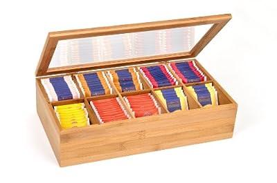 GRÄWE | eine Teebox aus Bambus mit 10 Fächern und Deckel