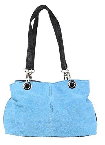 Elegant Fashions, Borsa a spalla donna Light Blue