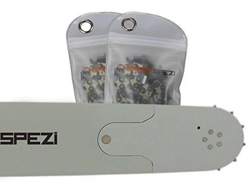 """60cm Schwert-Set Solid Drive mit 2 Vollmeißelketten 3/8"""" 84TG 1,5mm passend für Husqvarna 365"""