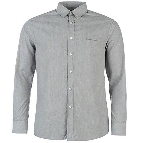 Pierre Cardin Herren Langarm Hemd, Gr. S-XXL Grey Tck Stripe