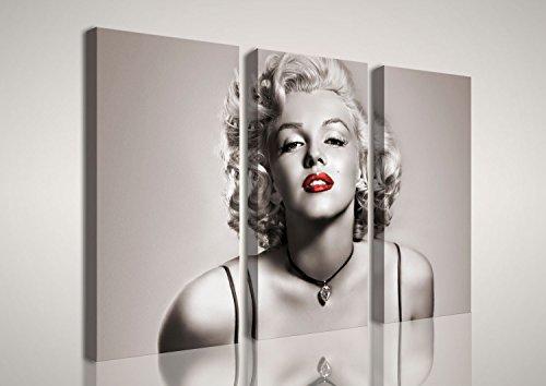 mywalldesign Quadro Moderno Tela Canvas Marilyn Monroe 120x80 CM