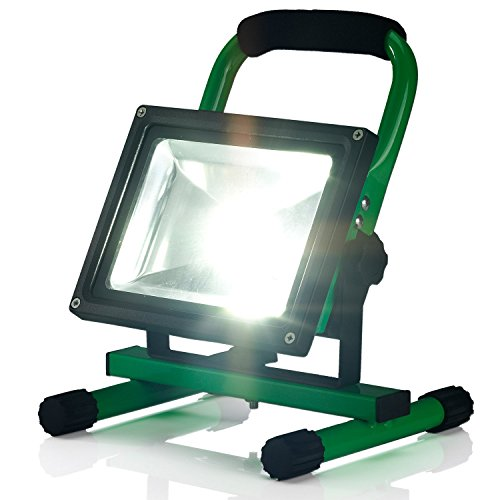 20w Outdoor PowerBank Ultra-compact Portable Led Work Lamp Flood light, for car travelling camping fishing, Power Bank USB Port for phone and Tablet devices, Detachable Rechargeable Battery case provide car charger and wall charger.Yellow
