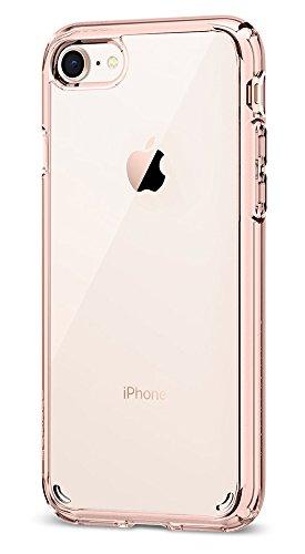 iPhone 8 / 7 Hülle, Spigen® [Ultra Hybrid 2] iPhone 8 Hülle, Verstärkter Kamera- und Buttonschutz [Crystal Clear] Zweite Generation des Ultra Hybrids Einteilige Transparent Handyhülle Durchsichtige PC UH2 Rose Crystal