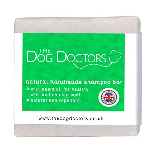 The Dog Doctors Teebaum & Neem Öl-Shampoo Bar 100 % Natürlich handgefertigt im Peak District UK!