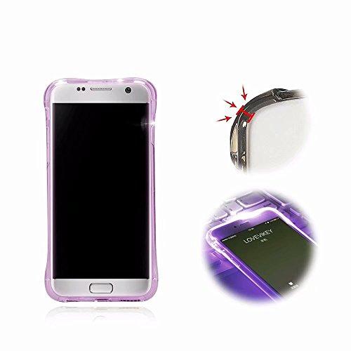6b34a47d2b4290 Hülle Samsung A5 2016, MingKun Thin TPU Silikon Transparent Handyhülle für Samsung  Galaxy A5 2016 A510 Schutzhülle LED Call Flash Licht Leuchtend Crystal ...