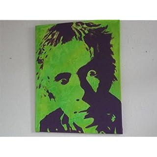 Johnny Rotten. Sex Pistols, 20x 16Ins Leinwand Malerei, handbemalt Punk