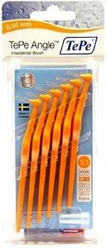 Tepe Interdentalbürsten Angle Orange 0.45 Mm 6 Stück Packung 0