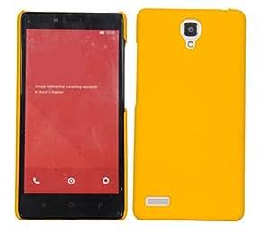 CUBIX Ultra Thin Rubberized Matte Hard Case Back Cover for Xiaomi Redmi Note 4G (Yellow)