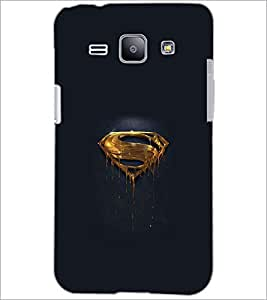 PrintDhaba Superman Logo D-2010 Back Case Cover for SAMSUNG GALAXY J1 (Multi-Coloured)