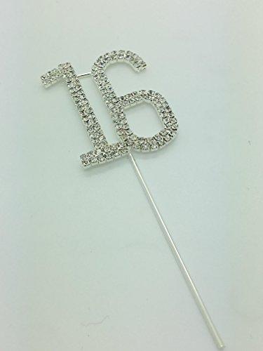rhinestone-birthday-cake-topper-number-pick-16th-diamante-gems-decoration-birthday-anniversary-diama