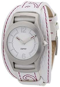 Esprit - ES104802003 - Montre Femme - Quartz Analogique - Bracelet Cuir Blanc