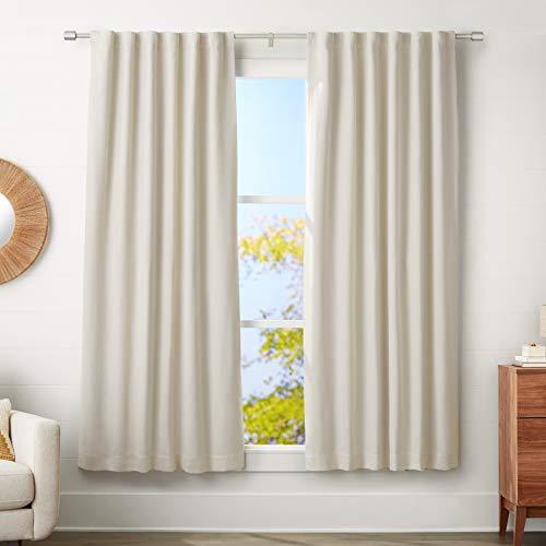 AmazonBasics - Barra cortinas remates tapas