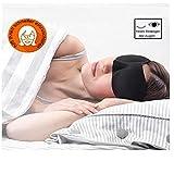 Premium DALATO 3D Schlafmaske für Damen und Herren, inklusive Beutel und Ohrstöpsel