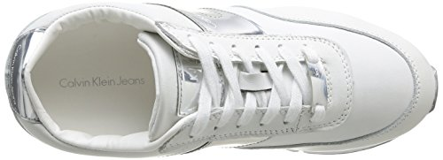 Calvin Klein Jeans Tosca, Baskets mode femme Blanc (Wsi)