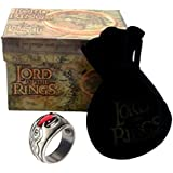 El Señor de los Anillos - Anillo de NAZGUL WITCH KING 19mm - Lord of The Rings Replica Oficial Medioevo